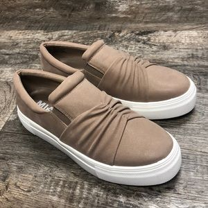Mia beige slip on sneakers shoes new